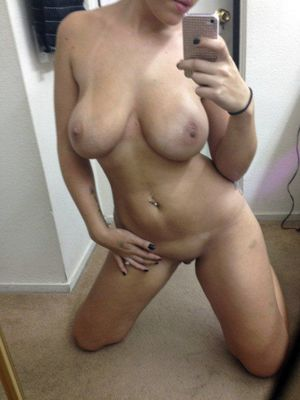 Nude young cunt and tits private selfie