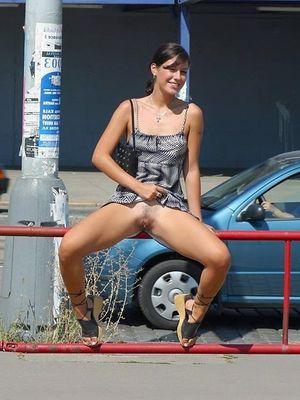 No panties, look under the skirt,..