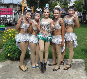 Young Thai teens posing for us