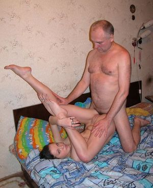 Young cuties fucked by old man at..