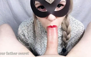 Blowjob and pulsating cum in..