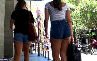 Stunning 18yo booty in shorts by..