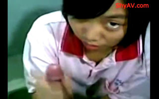 Chinese teen hot blowjob session..