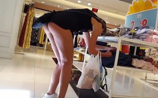 Candid voyeur leggy teen during..