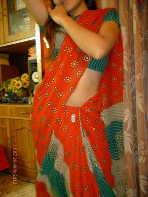 Elegant Muslim teenager undresses and..