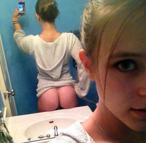 petite girl undress for her bf selfie
