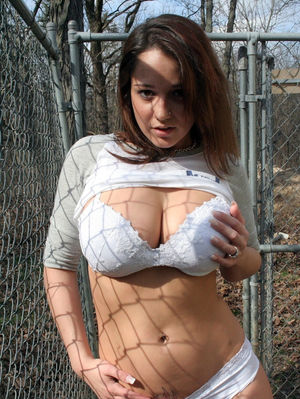Busty babes in outdoor erotic pictures