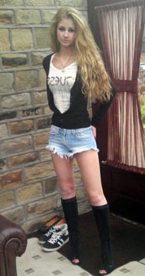 Leggy Ukrainian girl with long hair..