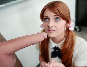Redhead schoolgirl Miley Cole spreads..