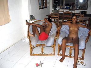 Perky ebony girlfriends, fully nude,..