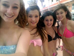 Funny teen girls in swimsuits, erotic..