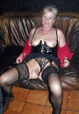Black stockings and sexy lingerie, old..